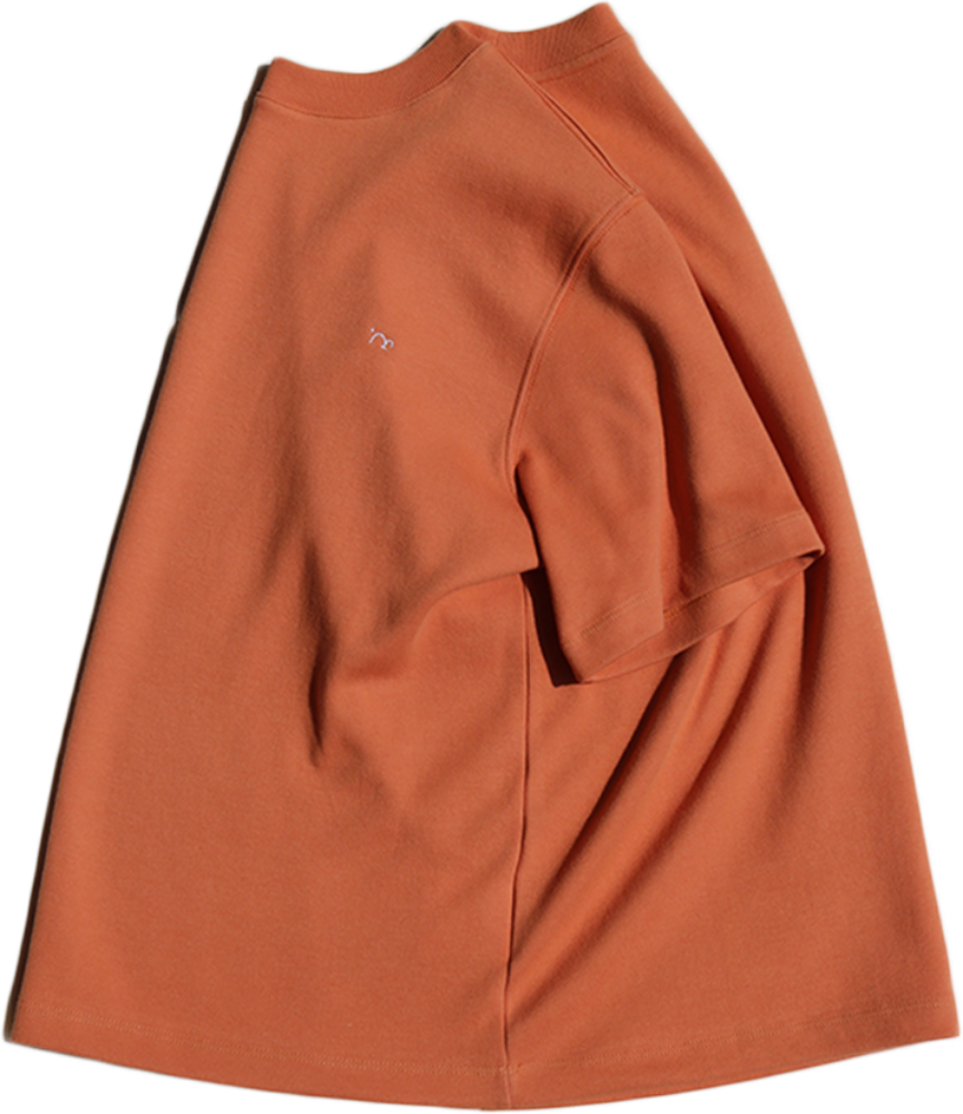[MIGU PROUCT] double cotton half sleeve T / carrot