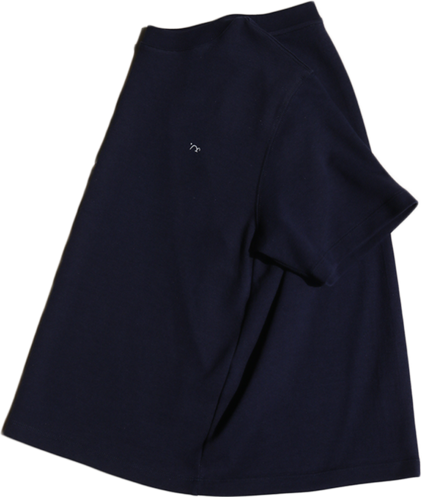 [MIGU PROUCT] double cotton half sleeve T / navy