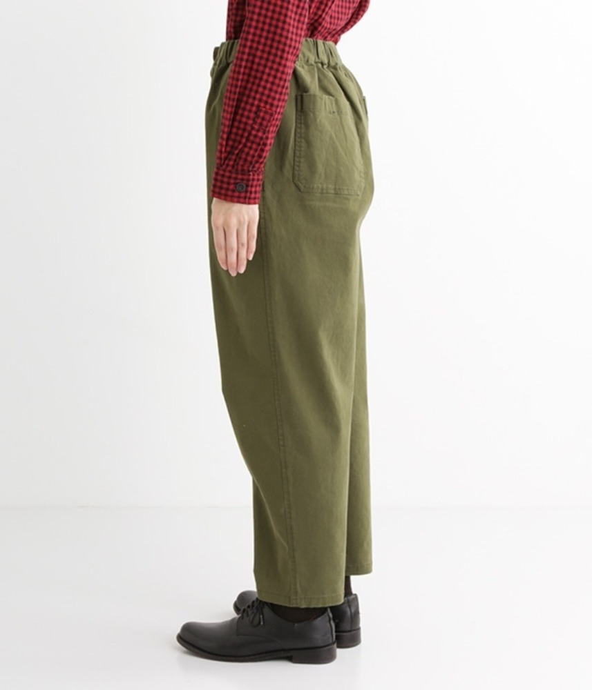 [NORTHERN TRUCK]  flap-pocket stretch pants / khaki