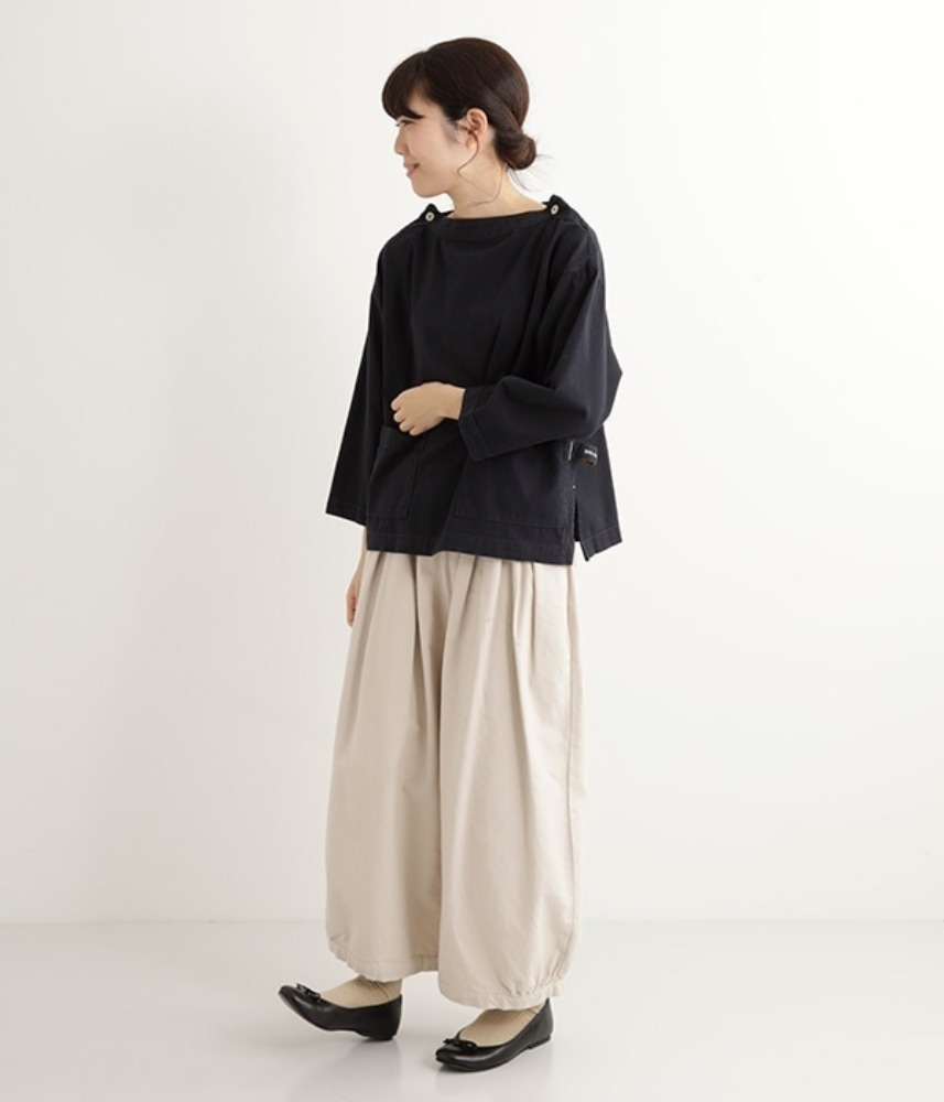 [NORTHERN TRUCK]  loop pocket work mock-neck pullover / navy