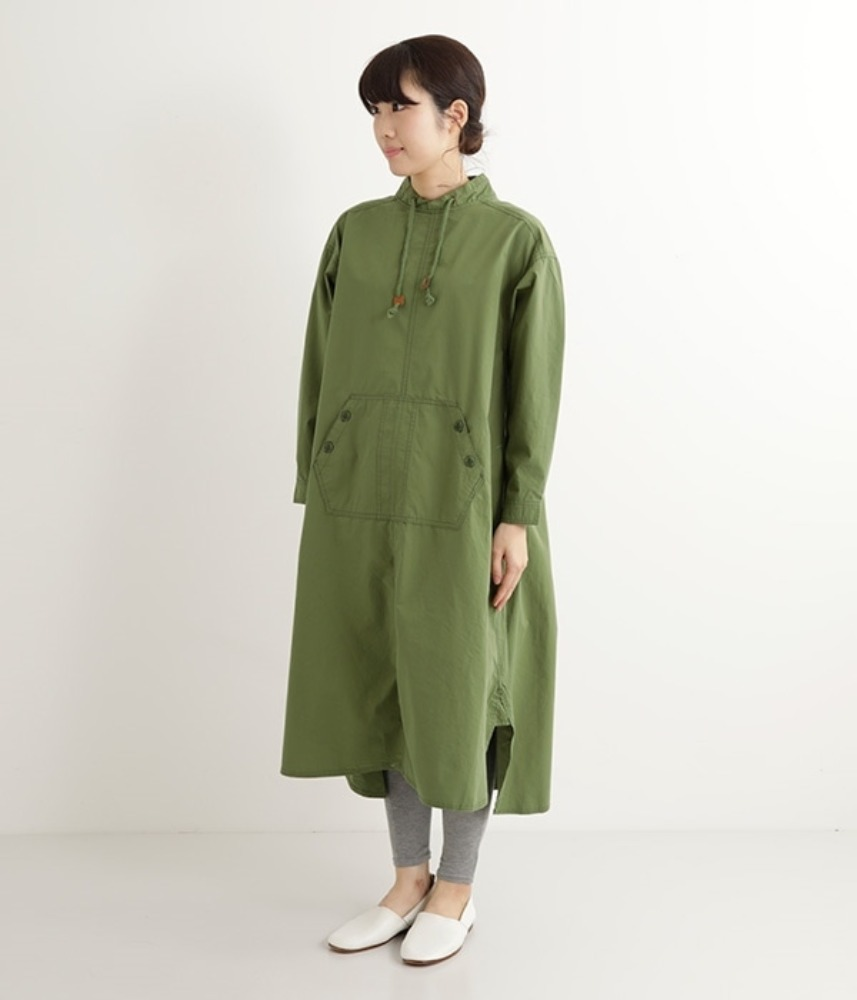 [NORTHERN TRUCK]  work outdoor pull-over anorak ops / khaki
