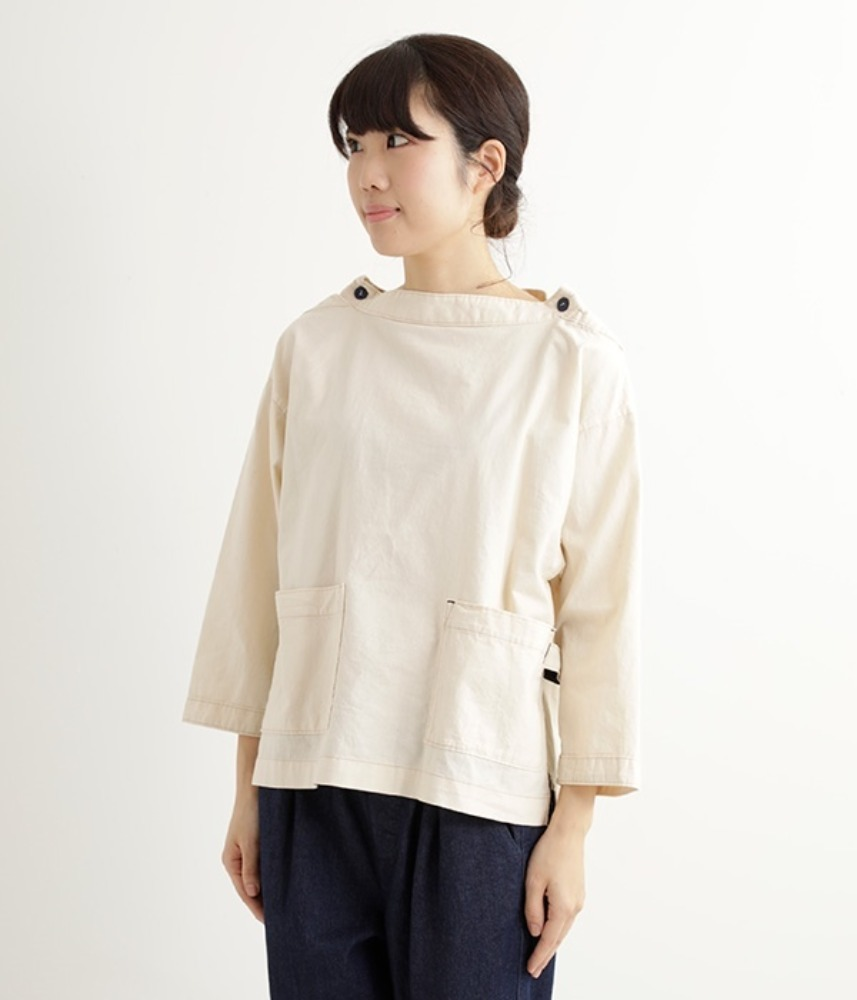 [NORTHERN TRUCK]  loop pocket work mock-neck pullover / ivory